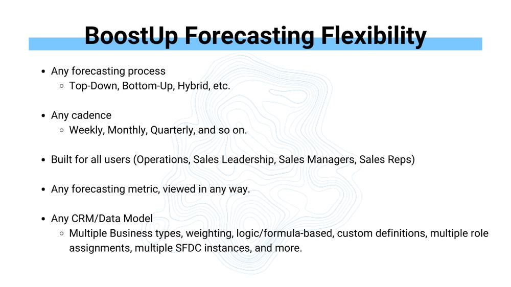 BoostUp Forecast Flexibility
