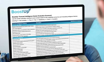 BoostUp: Forecast Intelligence Vendor Evaluation Scorecard